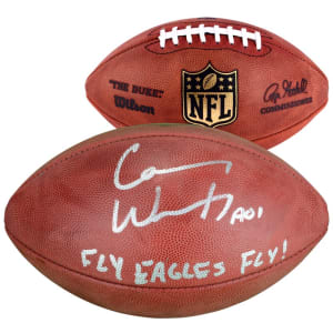 "Carson Wentz Philadelphia Eagles Fanatics Authentic Autographed Duke Pro Football with ""FLY EAGLES FLY"" Inscription"