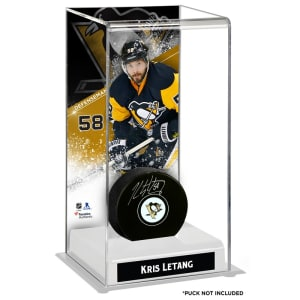 Kris Letang Pittsburgh Penguins Fanatics Authentic Deluxe Tall Hockey Puck Case