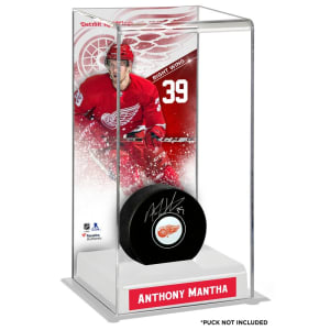 Anthony Mantha Detroit Red Wings Fanatics Authentic Deluxe Tall Hockey Puck Case