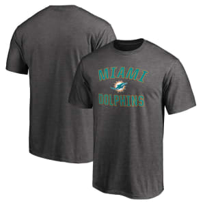 Miami Dolphins NFL Pro Line by Fanatics Branded Victory Arch T-Shirt - Gray