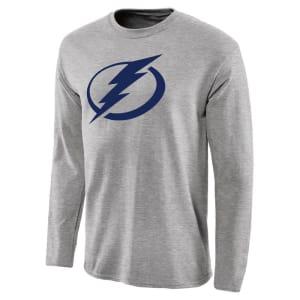 Tampa Bay Lightning Team Primary Logo Long Sleeve T-Shirt - Ash