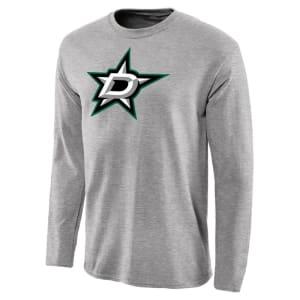 Dallas Stars Team Primary Logo Long Sleeve T-Shirt - Ash