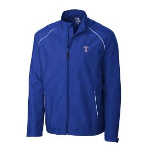 Texas Rangers Cutter & Buck Beacon WeatherTec Full-Zip Jacket - Royal