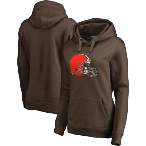 Cleveland Browns NFL Pro Line Women's Primary Team Logo Pullover Hoodie - Brown