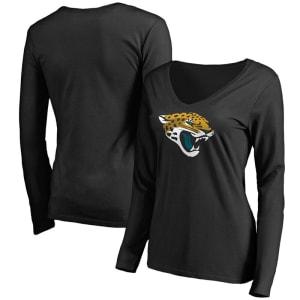 Jacksonville Jaguars NFL Pro Line Women's Primary Team Logo Long Sleeve T-Shirt - Black