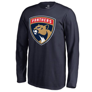 Florida Panthers Fanatics Branded Youth Primary Logo Long Sleeve T-Shirt - Navy