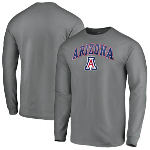 Arizona Wildcats Fanatics Branded Campus Long Sleeve T-Shirt - Charcoal