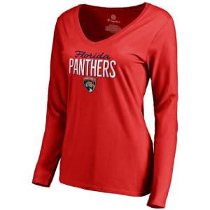 Florida Panthers Women's Nostalgia Long Sleeve T-Shirt - Red