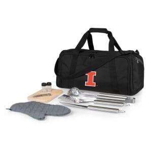 Illinois Fighting Illini BBQ Kit Cooler - Black
