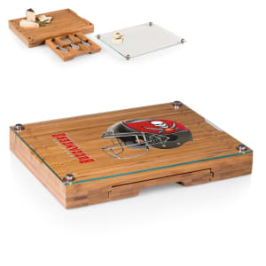 Tampa Bay Buccaneers Concerto Cheese Board with Serving Stage and Tools