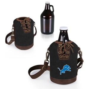 Detroit Lions Growler Tote with 64oz. Growler - Black