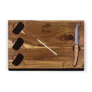 Buffalo Bills Delio Acacia Cheese Board with Acacia Markers
