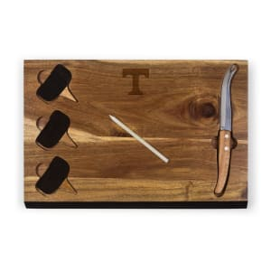 Tennessee Volunteers Delio Acacia Cheese Board with Acacia Markers