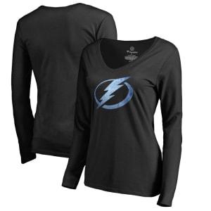 Tampa Bay Lightning Women's Pond Hockey Long Sleeve T-Shirt - Black