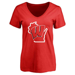 Wisconsin Badgers Women's Tradition State T-Shirt - Red