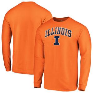Illinois Fighting Illini Fanatics Branded Campus Long Sleeve T-Shirt - Orange