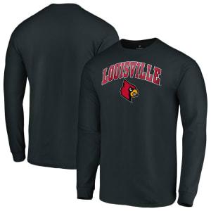 Louisville Cardinals Fanatics Branded Campus Long Sleeve T-Shirt - Black