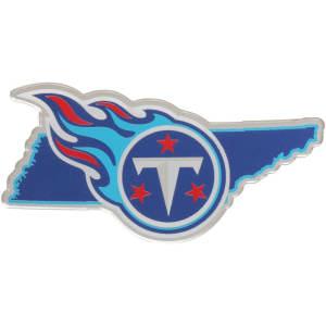 Tennessee Titans State Shape Acrylic Metallic Auto Emblem