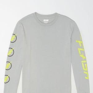 Tailgate Men's The Flash Glow-In-The-Dark T-Shirt Gray