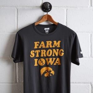 Tailgate Men's Iowa Hawkeyes Farm Strong T-Shirt Storm Dark S