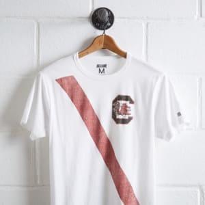 Tailgate Men's Carolina Gamecocks Stripe T-Shirt White L
