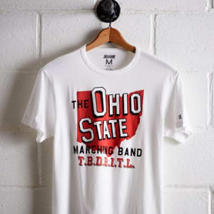 Tailgate Men's Ohio State Marching Band T-Shirt White XS