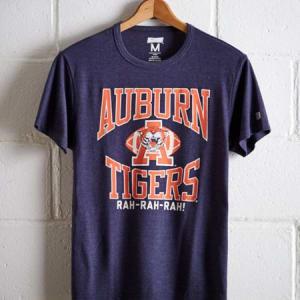 Tailgate Men's Auburn Tigers T-Shirt Navy Heather XS