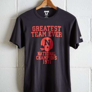 Tailgate Men's Nebraska Greatest Team T-Shirt Storm Dark M