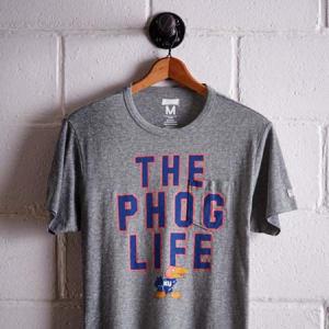 Tailgate Men's Kansas Pocket T-Shirt Gray Heather XS