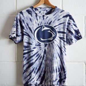 Tailgate Men's Penn State Tie-Dye T-Shirt Blue XXL