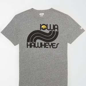 Tailgate Men's Iowa Hawkeyes T-Shirt Gray Heather M