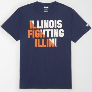 Tailgate Men's Illinois Fighting Illini T-Shirt Blue XS