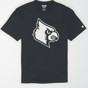 Tailgate Men's Louisville Cardinals Reflective Graphic T-Shirt Storm Dark L
