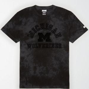 Tailgate Men's Michigan State Tonal Dye T-Shirt Bold Black XS