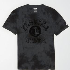 Tailgate Men's FSU Seminoles Tonal Dye T-Shirt Bold Black XL