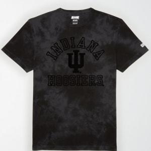 Tailgate Men's Indiana Hoosiers Tonal Dye T-Shirt Bold Black S