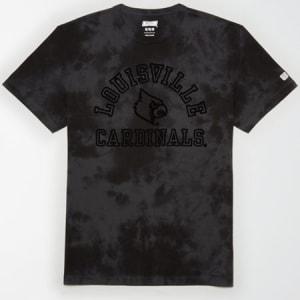 Tailgate Men's Louisville Cardinals Tonal Dye T-Shirt Bold Black S