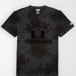 Tailgate Men's Miami Hurricanes Tonal Dye T-Shirt Bold Black XS