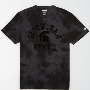 Tailgate Men's Michigan State Tonal Dye T-Shirt Bold Black L