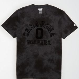 Tailgate Men's Oklahoma Sooners Tonal Dye T-Shirt Bold Black S