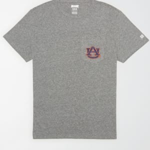 Tailgate Men's Auburn Tigers Pocket T-Shirt Gray Heather XXL