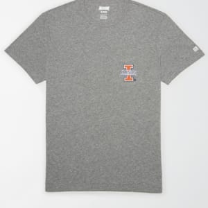 Tailgate Men's Illinois FIghting Illini Pocket T-Shirt Gray Heather L