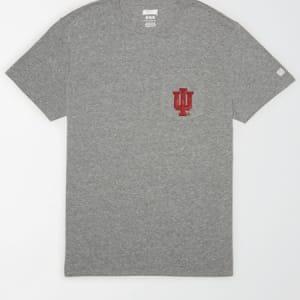 Tailgate Men's Indiana Hoosiers Pocket T-Shirt Gray Heather XS