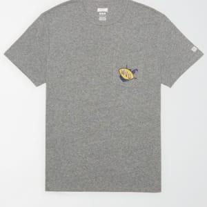Tailgate Men's WVU Mountaineers Pocket T-Shirt Gray Heather