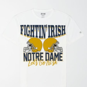 Tailgate Men's Notre Dame Graphic T-Shirt White XL