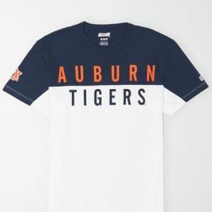 Tailgate Men's Auburn Tigers Colorblock T-Shirt White S