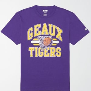 Tailgate Men's LSU Tigers Basketball T-Shirt Prep Purple M