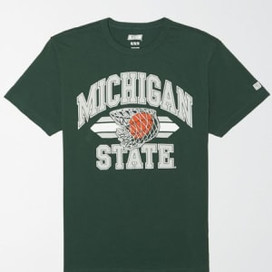 Tailgate Men's Michigan State Spartans Basketball T-Shirt Leaf Green XS