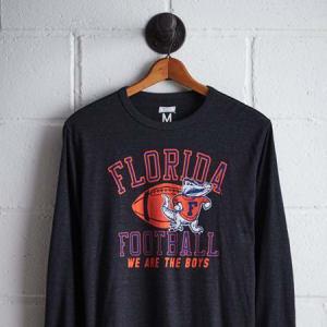 Tailgate Men's Florida Long Sleeve T-Shirt Charcoal L
