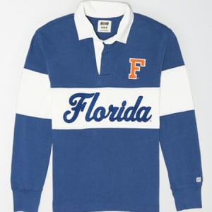 Tailgate Men's Florida Gators Rugby Shirt Royal Blue XS
